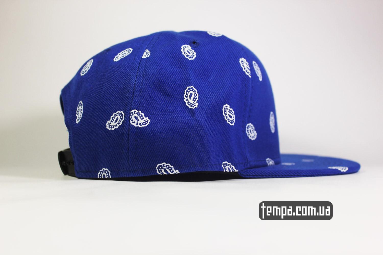 оригинальная кепка бейсболка реперка реперская одежда кепка snapback STUSSY синяя голуюая oldschool украина