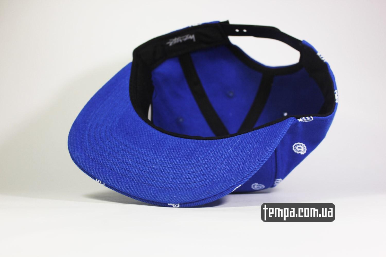 реперская одежда украина заказать кепки бейсболки кепка snapback STUSSY синяя голуюая oldschool