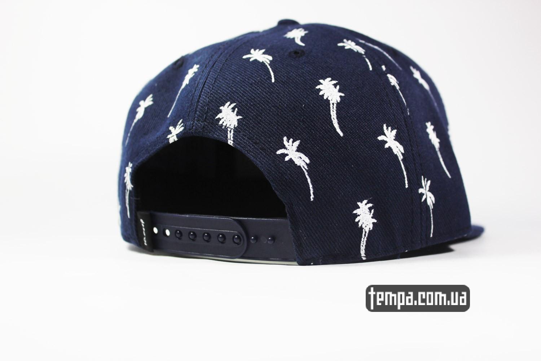 snapback 1dreep синяя с пальмами  летняя кепка мужская женская украина
