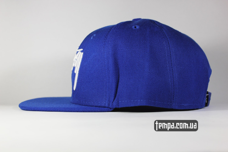 купить кепку реперку хип хоп stussy snapback синяя кепка бейсболка