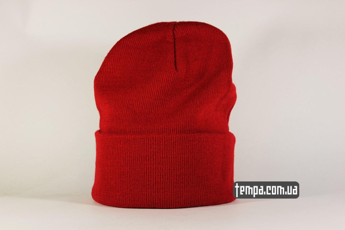 баскетбольная шапка beanie Jordan Jump New Era красная