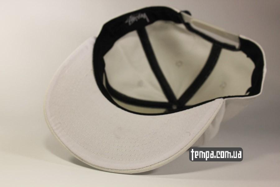 кепка с ровным козырьком белая кепка бейсболка snapback Stussy украина купить