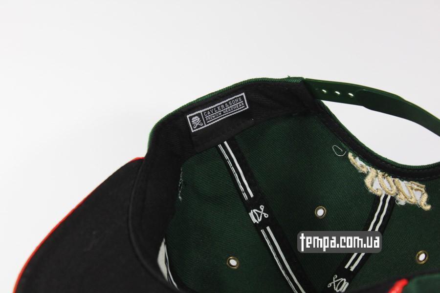 бейсбокли америка одежда хипхоп snapback C USA Cayler Sons зеленая