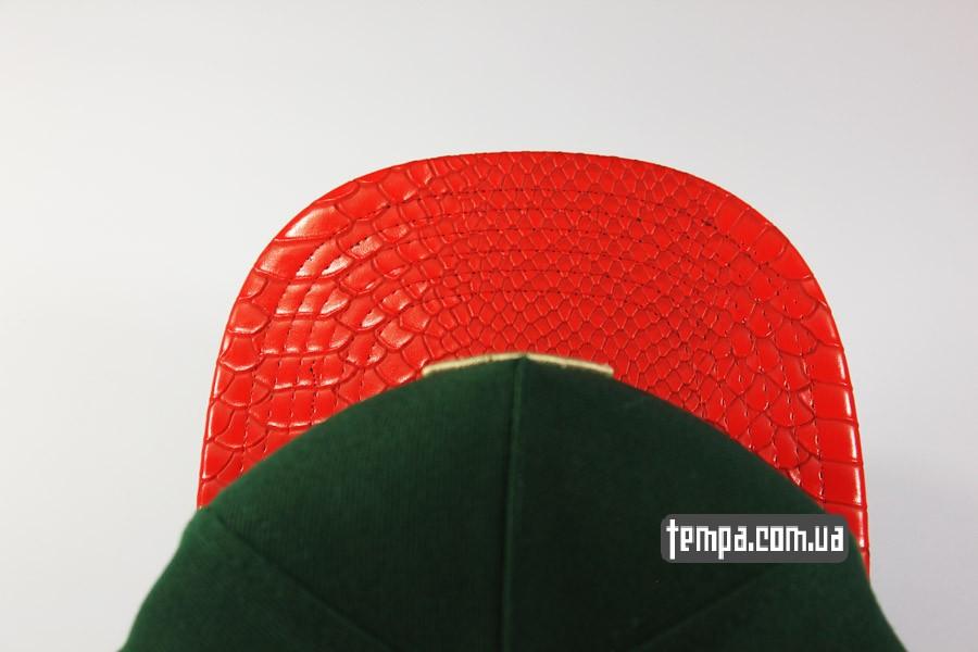 кожа змеи одежда снепбеки бейсбокли snapback C USA Cayler Sons зеленая