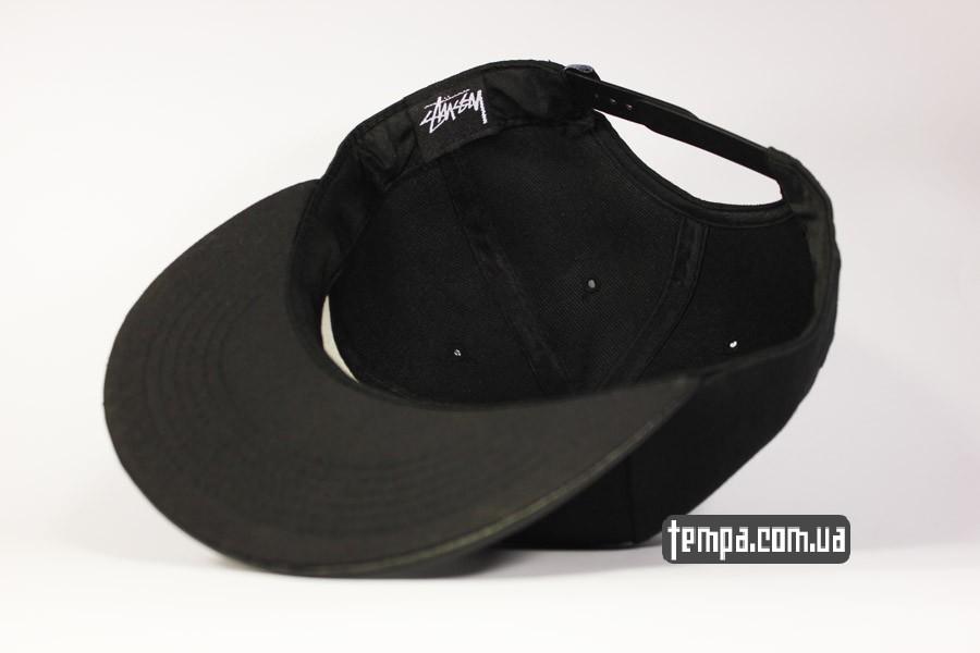 полностью черная кепка черная кепка snapback stussy new york LA tokyo london