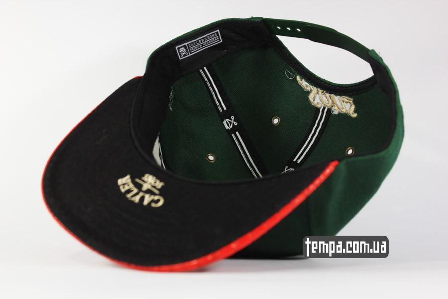 реперские бейсбокли одежда snapback C USA Cayler Sons зеленая