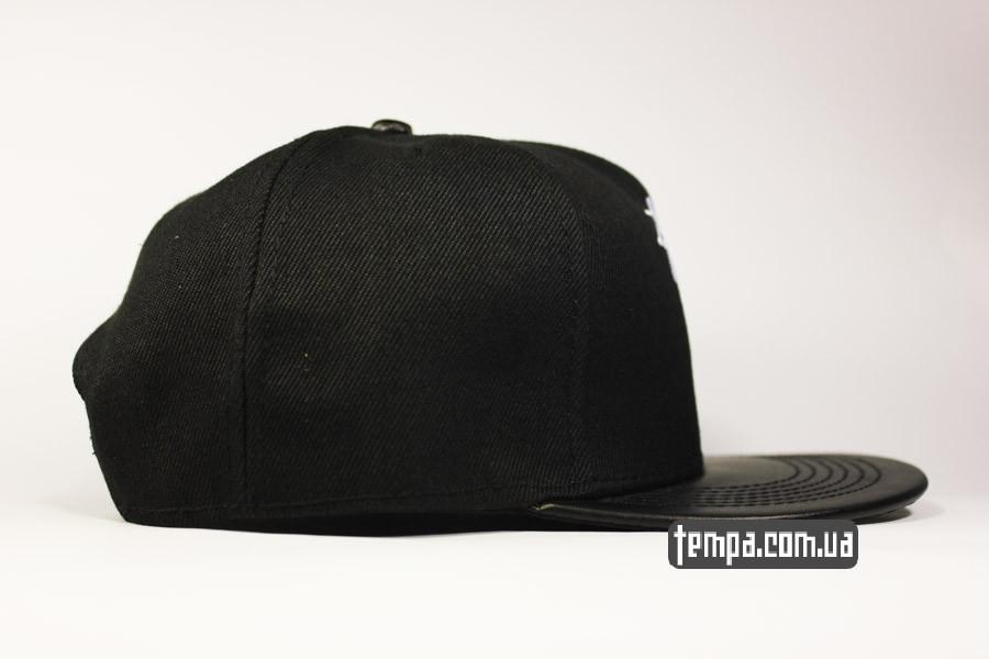 ровный прямой козырек черная кепка snapback stussy new york LA tokyo london