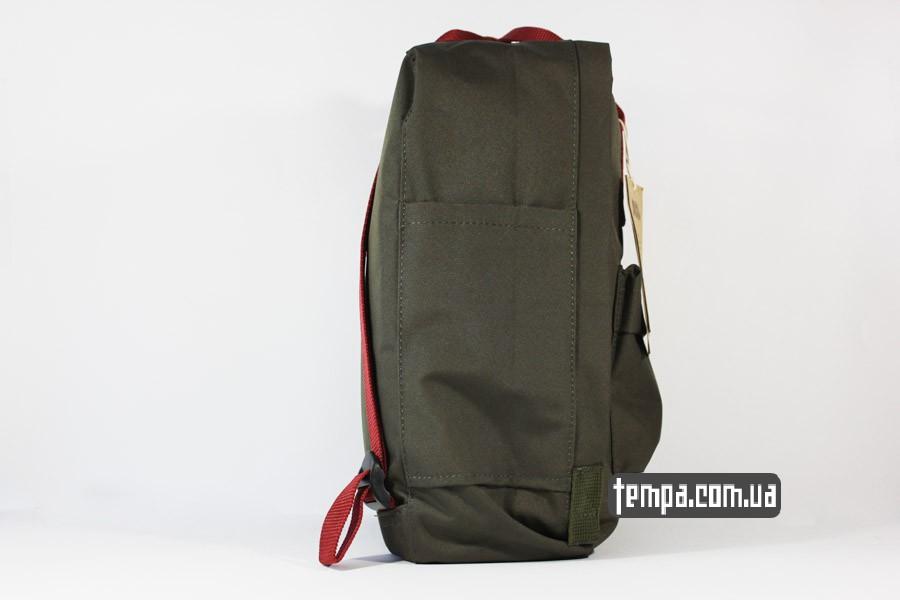 канкен магазин украина рюкзак kanken FJALL RAVEN хаки с красными ручками