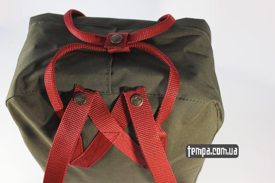 канкен рюкзаки женские рюкзак kanken FJALL RAVEN хаки с красными ручками
