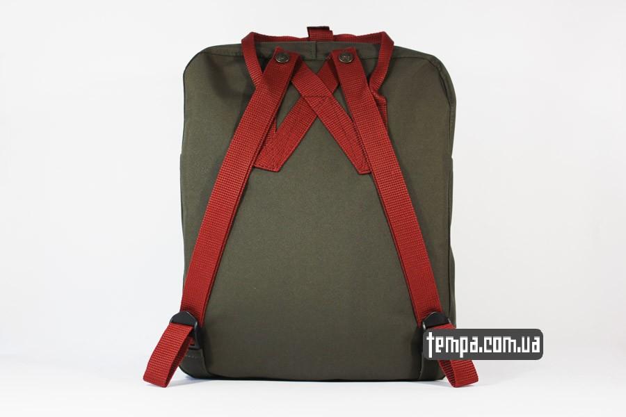 канкен шведция магазин заказать рюкзак kanken FJALL RAVEN хаки с красными ручками