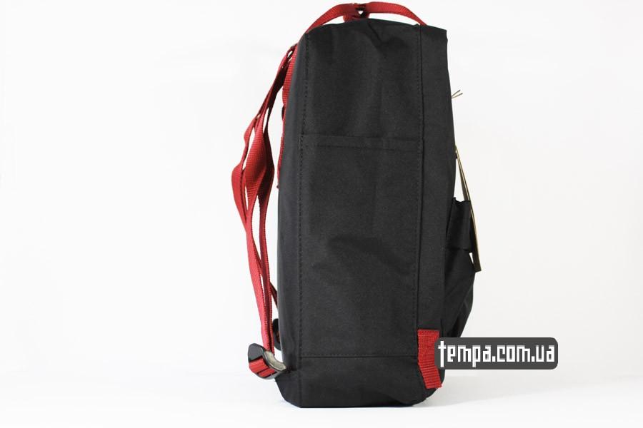 украина оригинал kanken FJALL RAVEN рюкзак черный с красными ремешками
