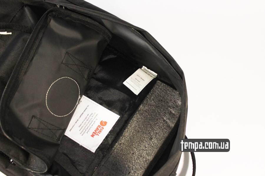 женский мужской черный рюкзак kanken FJALL RAVEN