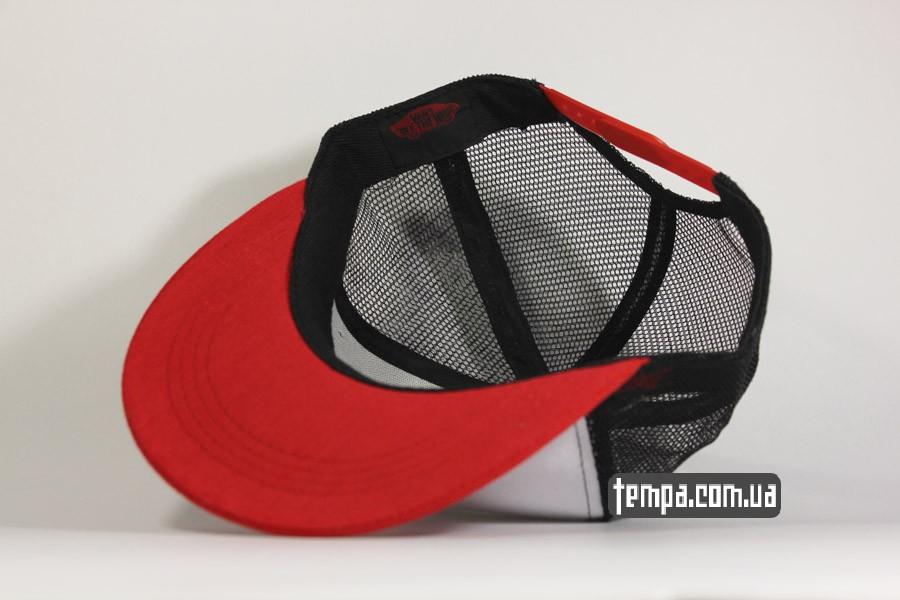 красная бейсболка сетка кепка vans tracker бейсболка красная с сеткой