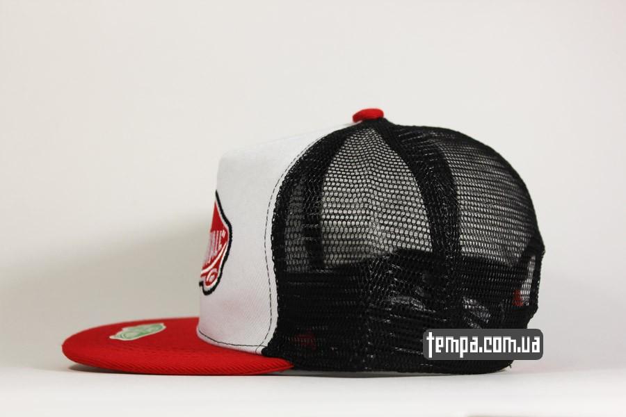 сеточки кепки кепка vans tracker бейсболка красная с сеткой