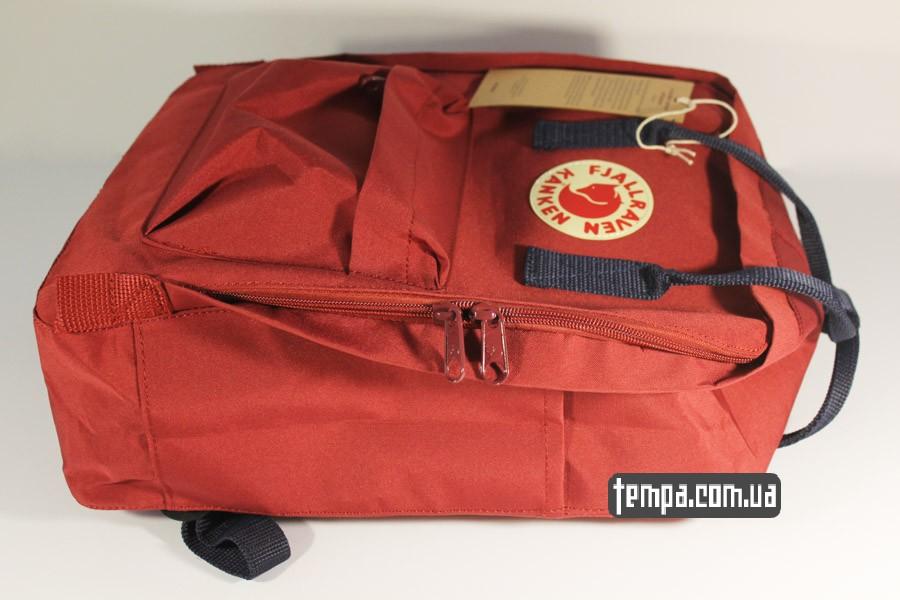 классический 16 канкен красный бордовый рюкзак FJALLRAVEN Kanken