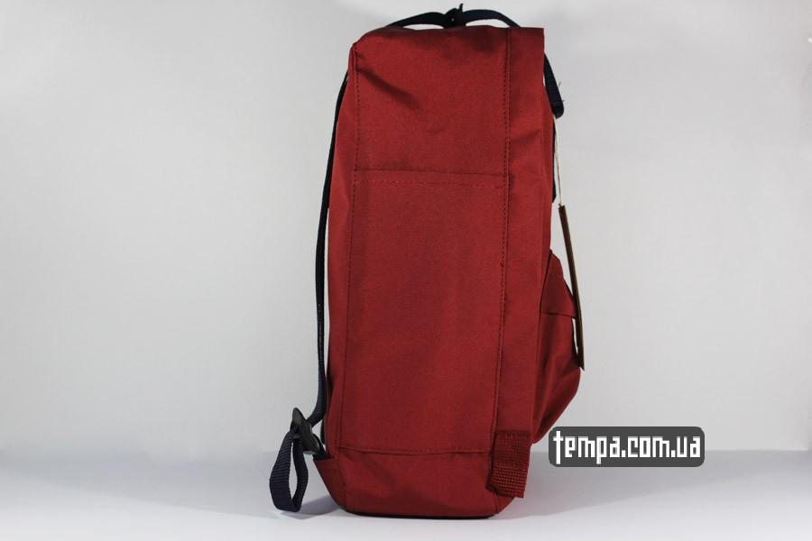 мужской женский красный бордовый рюкзак FJALLRAVEN Kanken