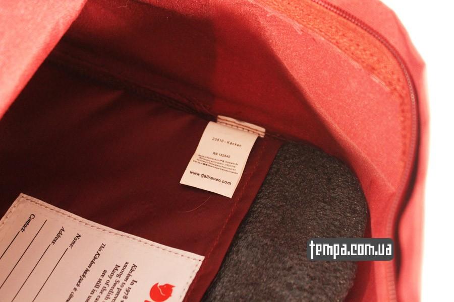оригинал заказать красный бордовый рюкзак FJALLRAVEN Kanken
