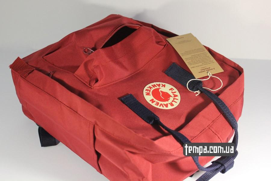оригинальный бренд канкен красный бордовый рюкзак FJALLRAVEN Kanken