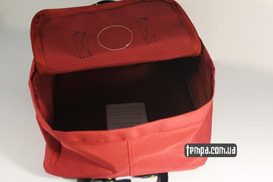 женский красный бордовый рюкзак FJALLRAVEN Kanken