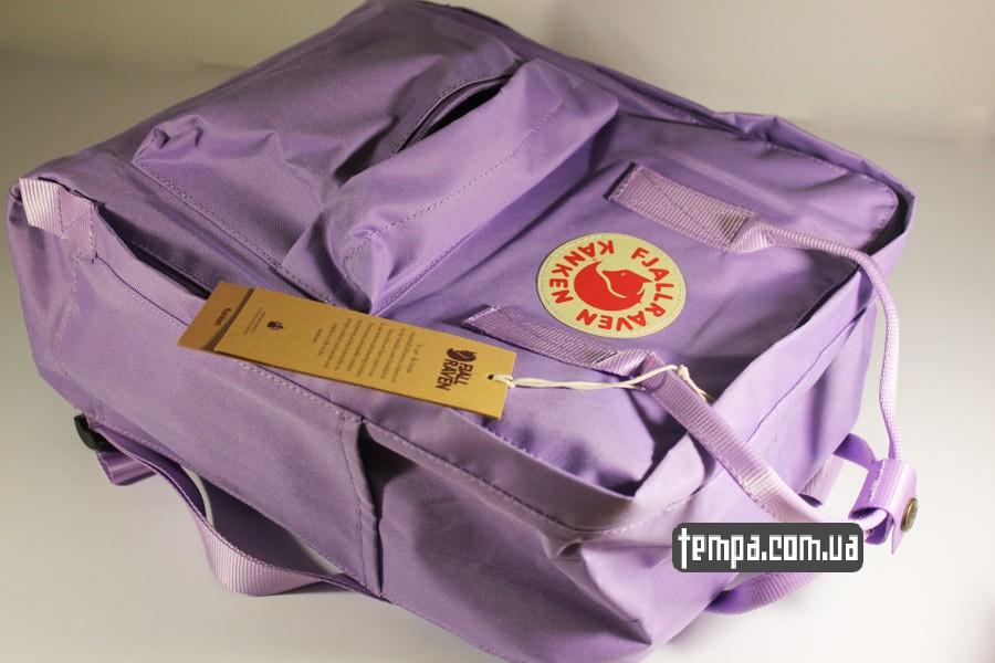 женский сиреневый рюкзак FJALLRAVEN Kanken классик