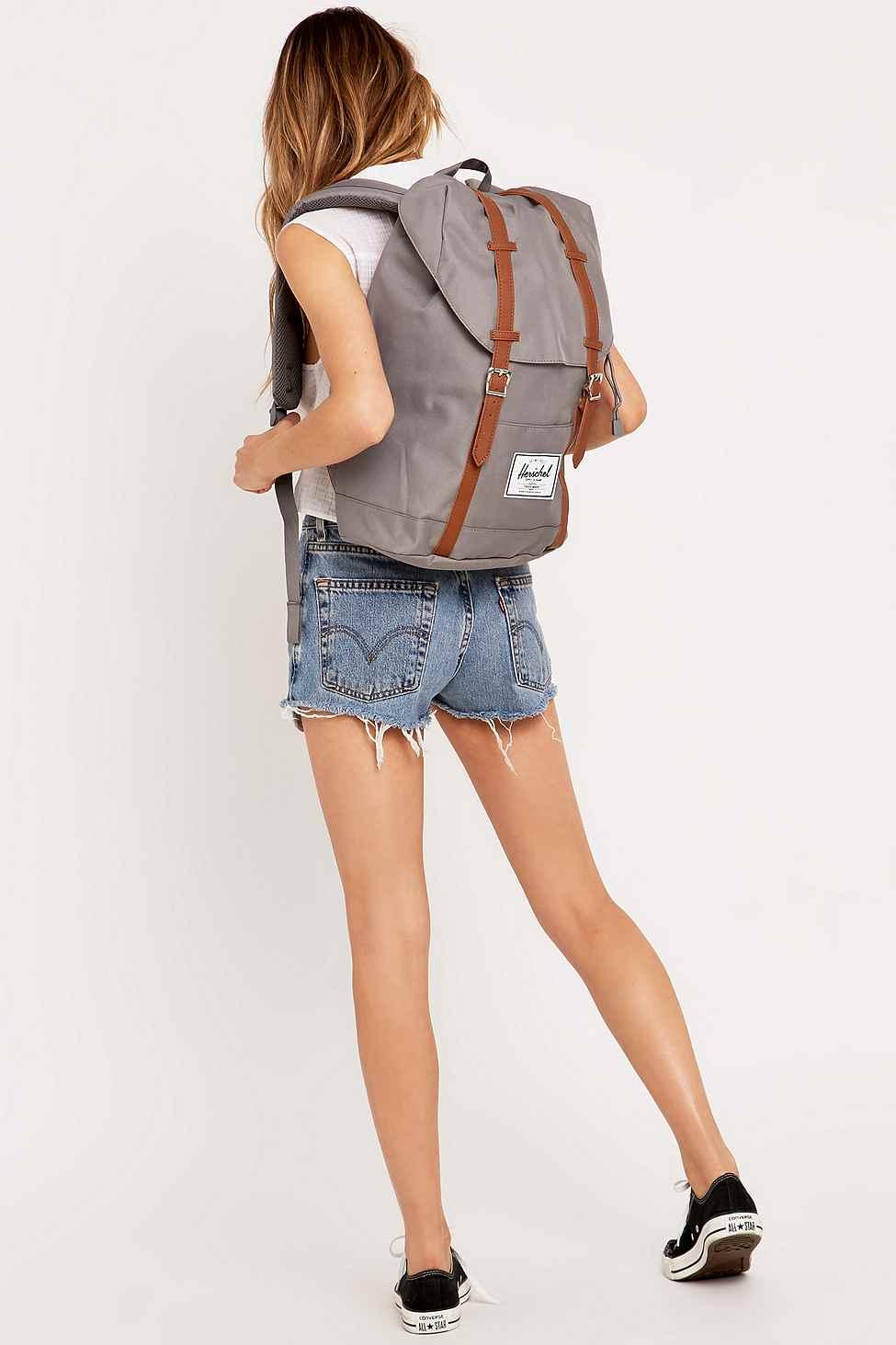 herschel grey серый рюкзак