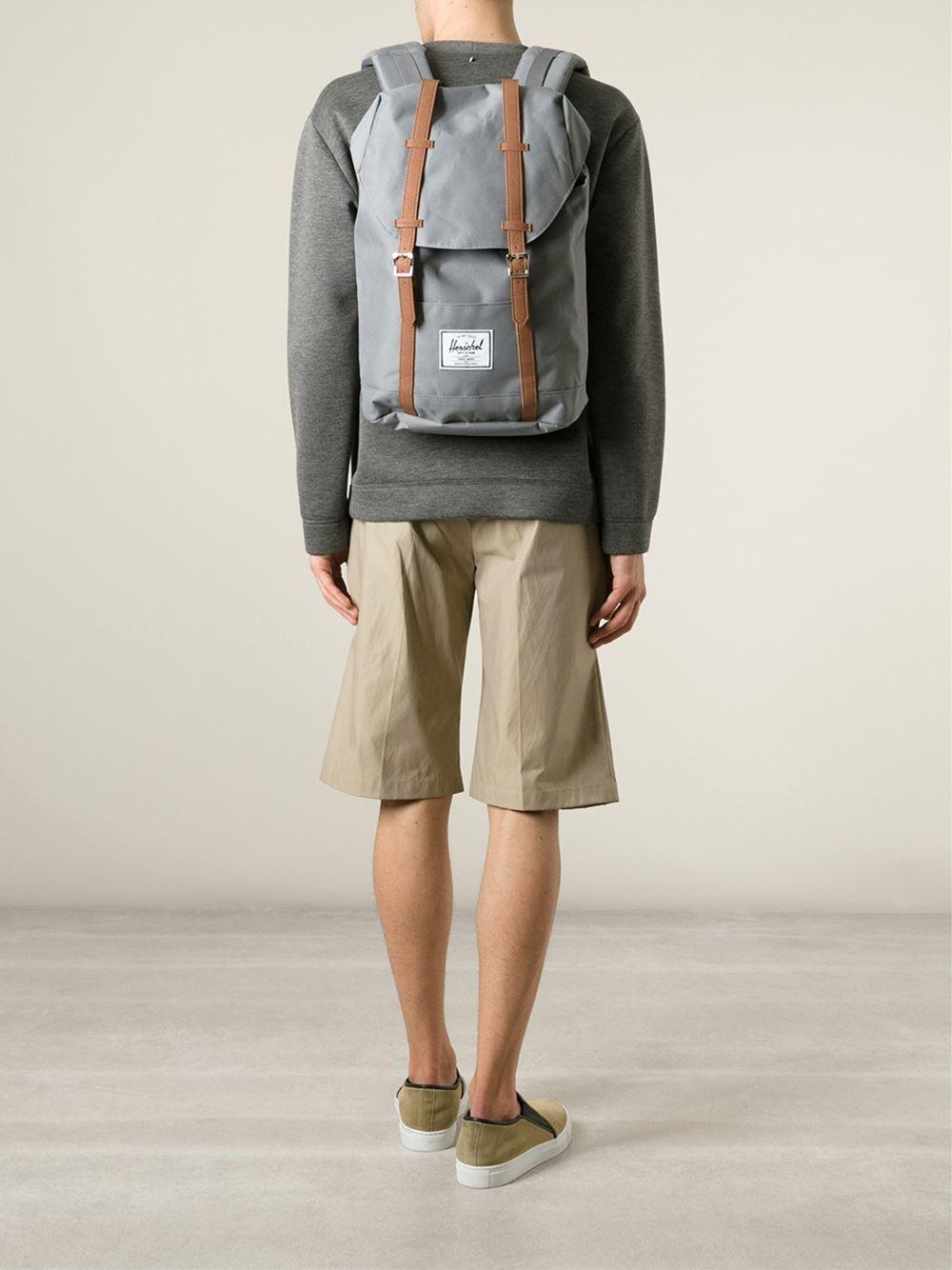 herschel-supply-co-grey-retreat-backpack-gray купить в украине