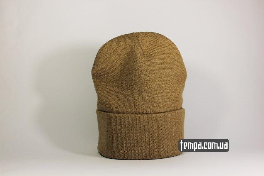 оригинальная одежда шапка beanie carhartt коричневая оригинал
