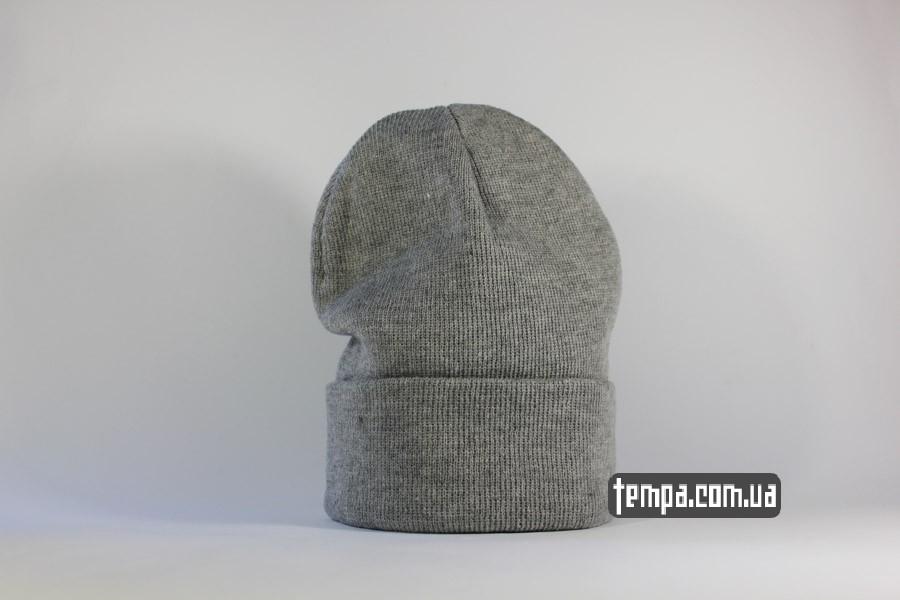 gray grey шапка чисто серая beanie ASOS