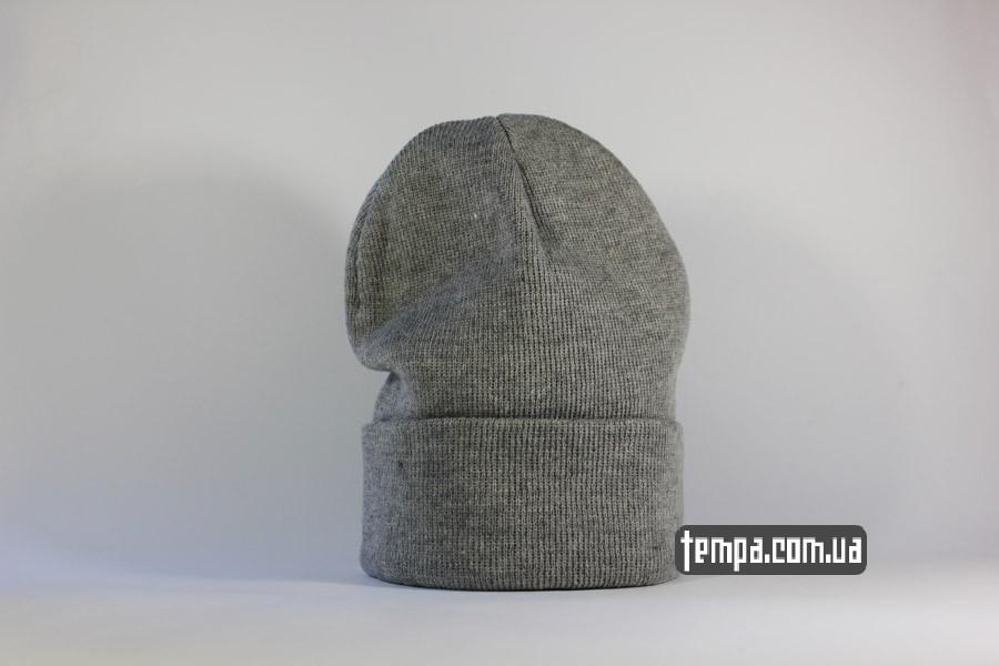 шапка без логотипа чисто серая украина купить