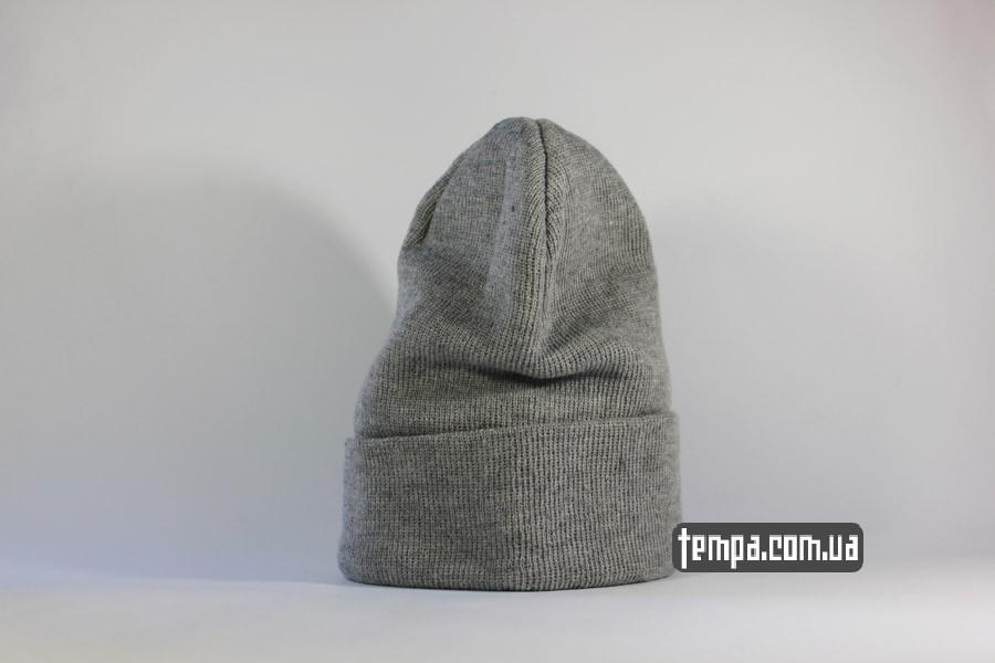 шапка чисто серая beanie ASOS украина купить