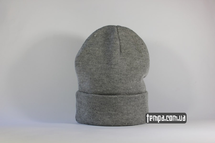 шапка чисто серая beanie ASOS