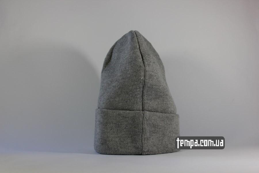 теплая зимняя шапка купить заказать украина чисто серая без логоъ