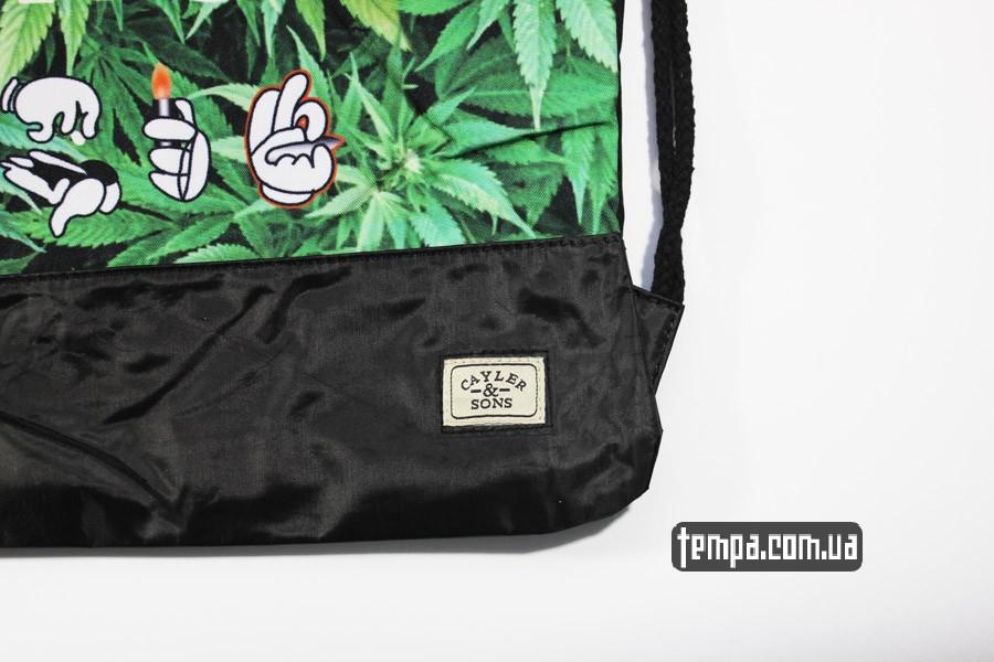 weed сумка мешок с коноплей cayler and sons рюкзак roll light smoke