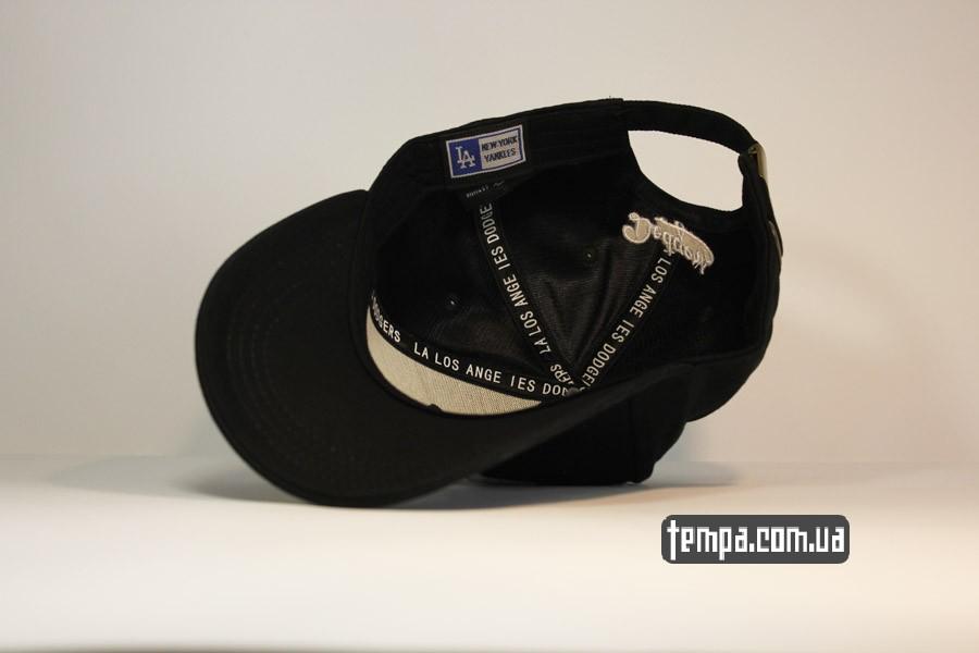 бейсболки женские мужские бейсболка LA Los Angeles кепка с логотипом черная купить украина