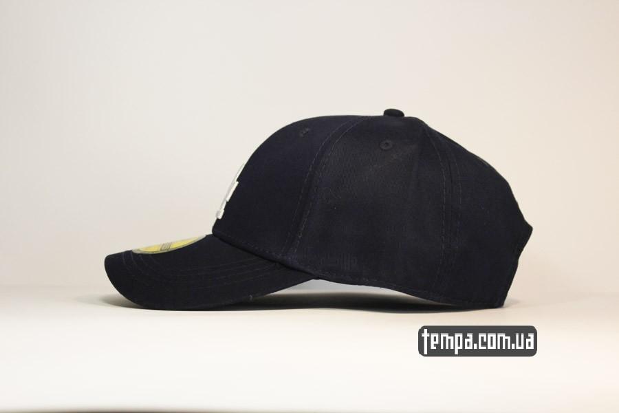 ла бейсболка снепбек кепка LA синяя classic круглый козырек закругленный