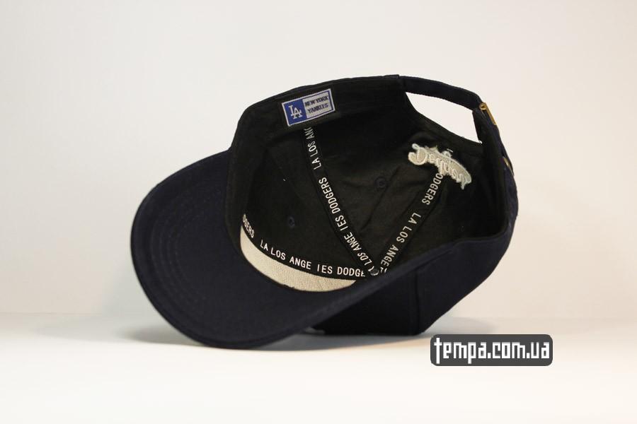 newera бейсболки кепка LA синяя classic круглый козырек закругленный