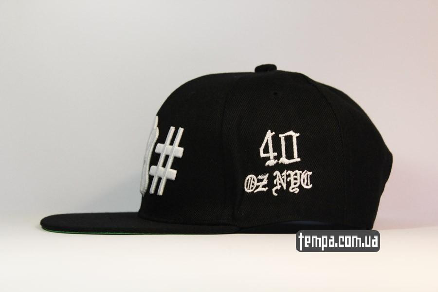 американская бейсбольная кепка snapback yankees hashtag SSUR 40oz черная