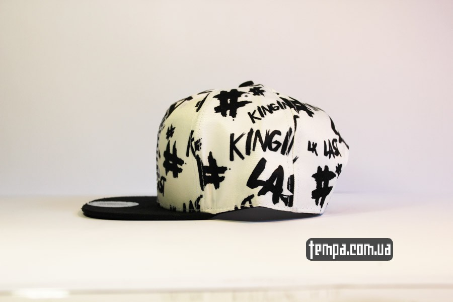 ласт кингс хип хоп одежда кепка snapback Last Kings LK с фараоном белая