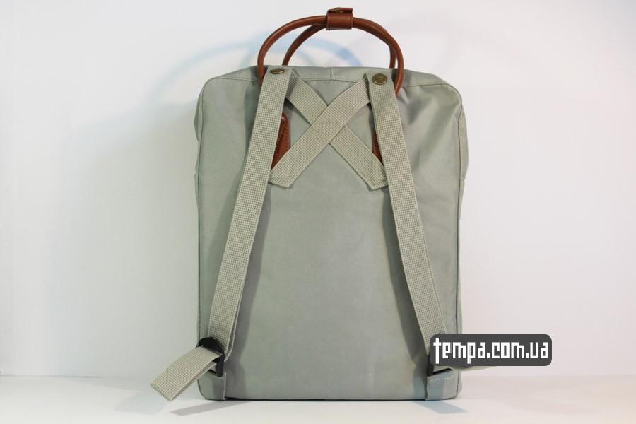 канкен чемодан kanken NO.2 рюзкак серый кожаный fjallraven