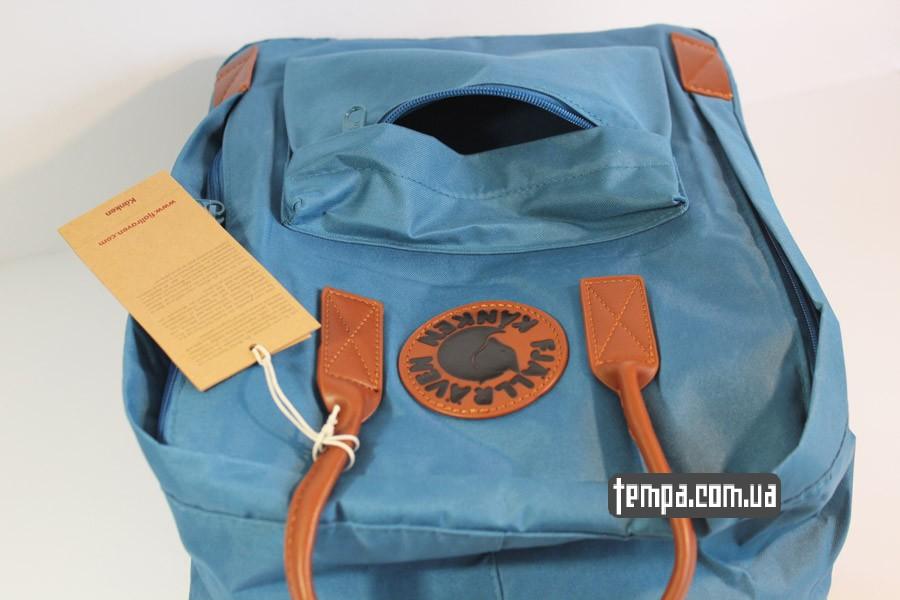 кожаный рюкзак kankan no 2 backpack fjallraven кожаный голубой