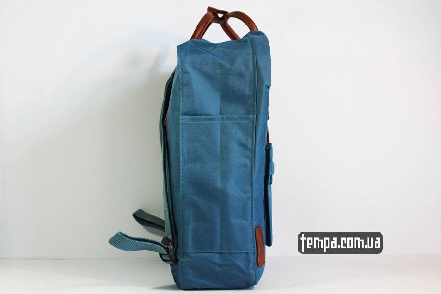 мужской женский рюкзак kankan no 2 backpack fjallraven кожаный голубой