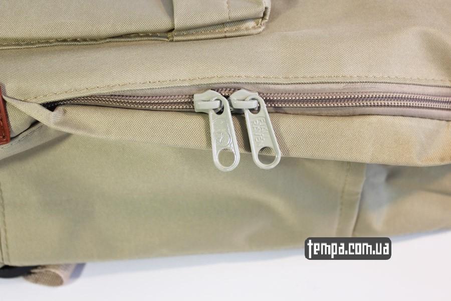 женский купить рюкзак Kanken номер 2 fjallraven хаки коричневый кожаный логотип