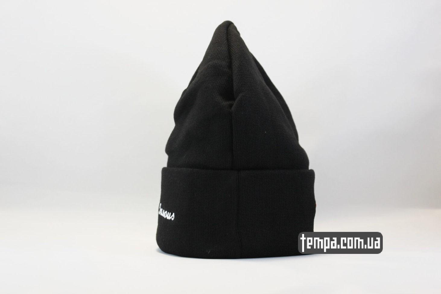 черная шапка бини шапка beanie SUPREME Black черная суприм Украина