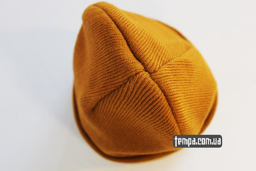 кархарт купить с доставкой шапка beanie Carhartt оранжевая коричневая рыжая