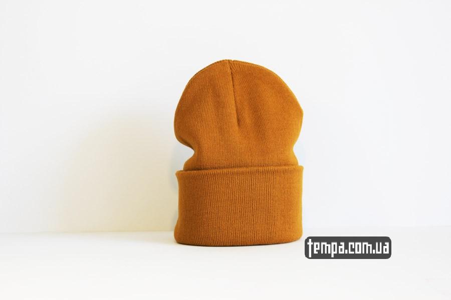 кархарт купить шапка beanie Carhartt оранжевая коричневая рыжая