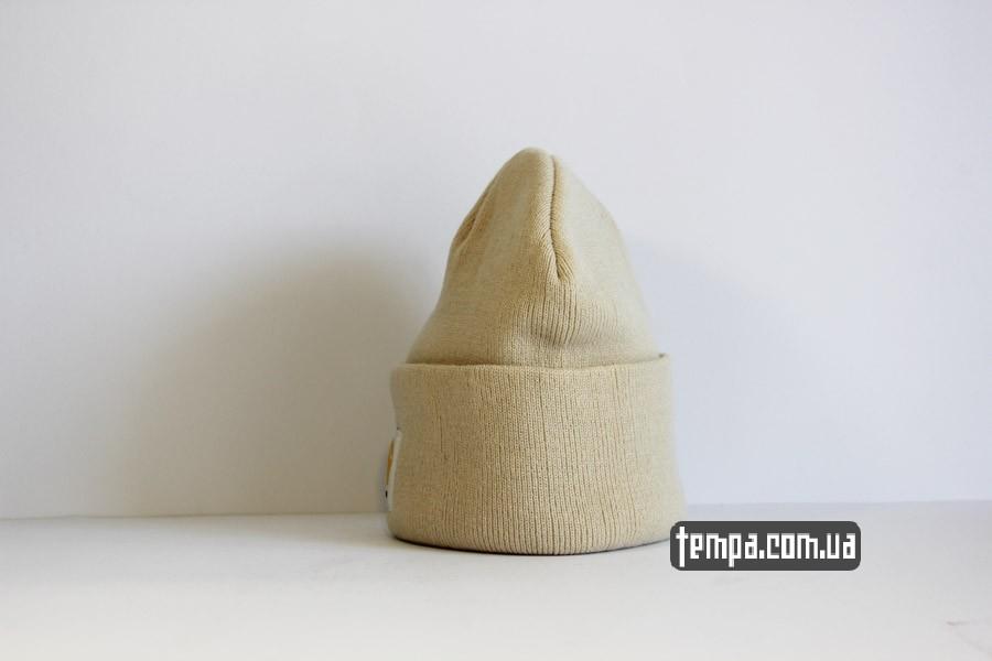 мужская женская шапка carhartt beanie белая бежевая серая