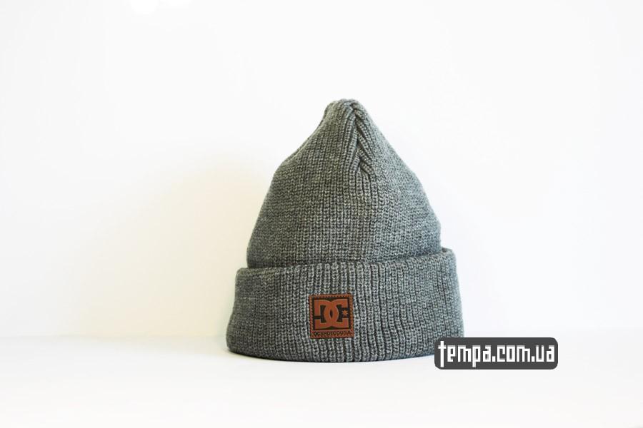 оригинальная одежда диси США шапка DC USA Beanie серая бини купить