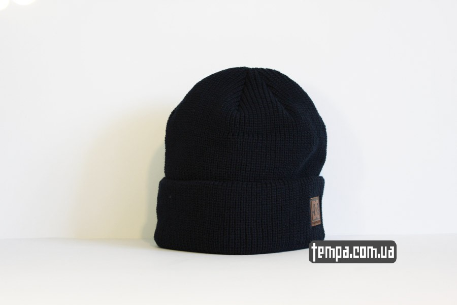 шапка beanie DC USA синяя бини купить