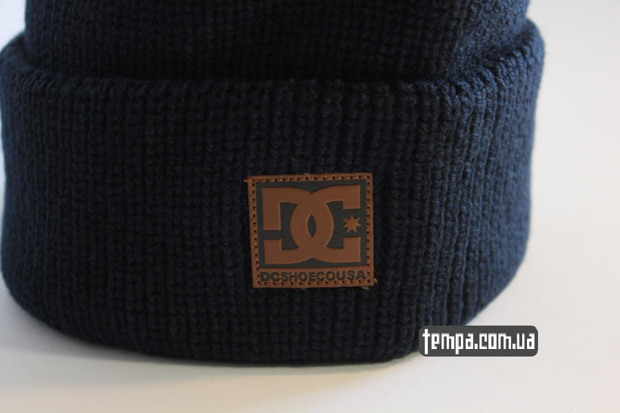 шапки бини магазин украина шапка beanie DC USA синяя бини купить