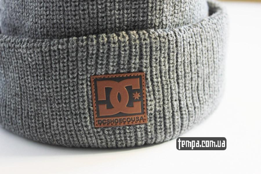 украина купить шапка DC USA Beanie серая бини купить